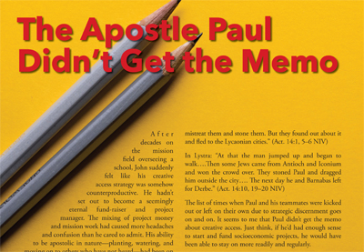 The Apostle Paul Didn't Get the Memo